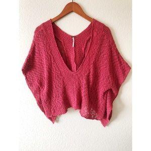 Free people small maroon crochet top